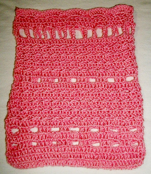 23 Passo a passo – Sacolinha em crochê decorada com fitas