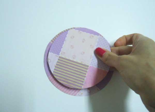 1d Passo a passo – Cartão de scrapbook com fitas