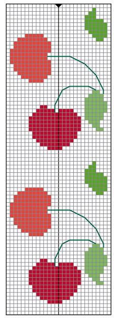 14 Passo a passo – Panos de copa vermelhos com cerejinhas
