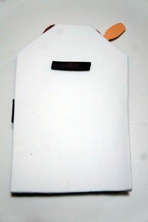 7 Passo a passo – Bloco de anotações imã de geladeira