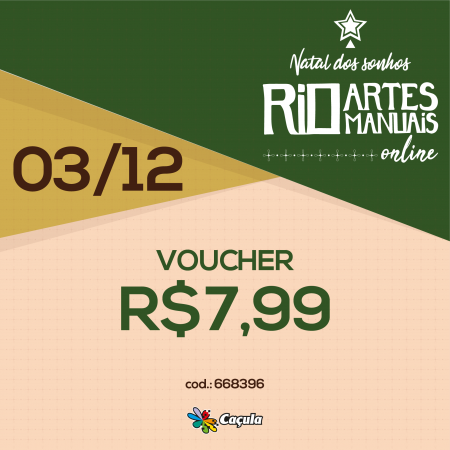DIA 3/12: Voucher R$ 7,99 | REF 668396