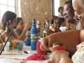 Aula de garrafa com fio barroco PAF Acari.
