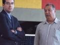 Secretário Marcelo Queiroz com Roberto Santos.