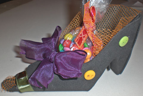Passo a passo – Sapato porta-doces