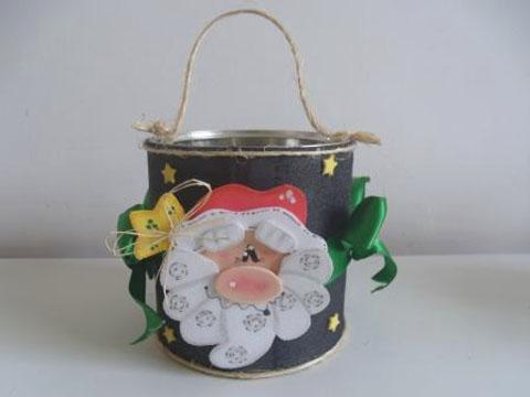 Passo a passo – Latinha embalagem do Papai Noel