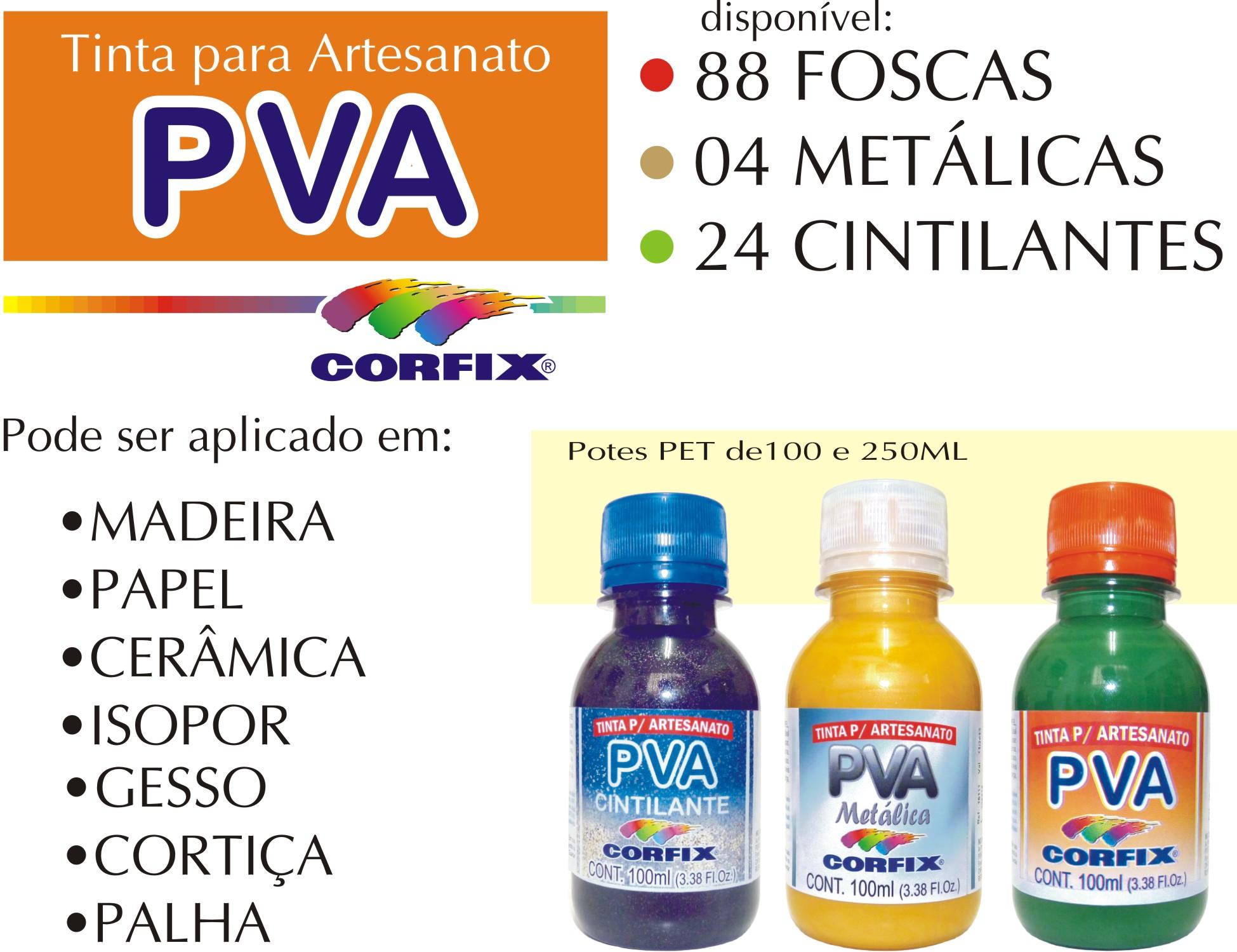 Tinta para Artesanato PVA da Corfix? Ela pode ser aplicada em  #B99012 1949x1499