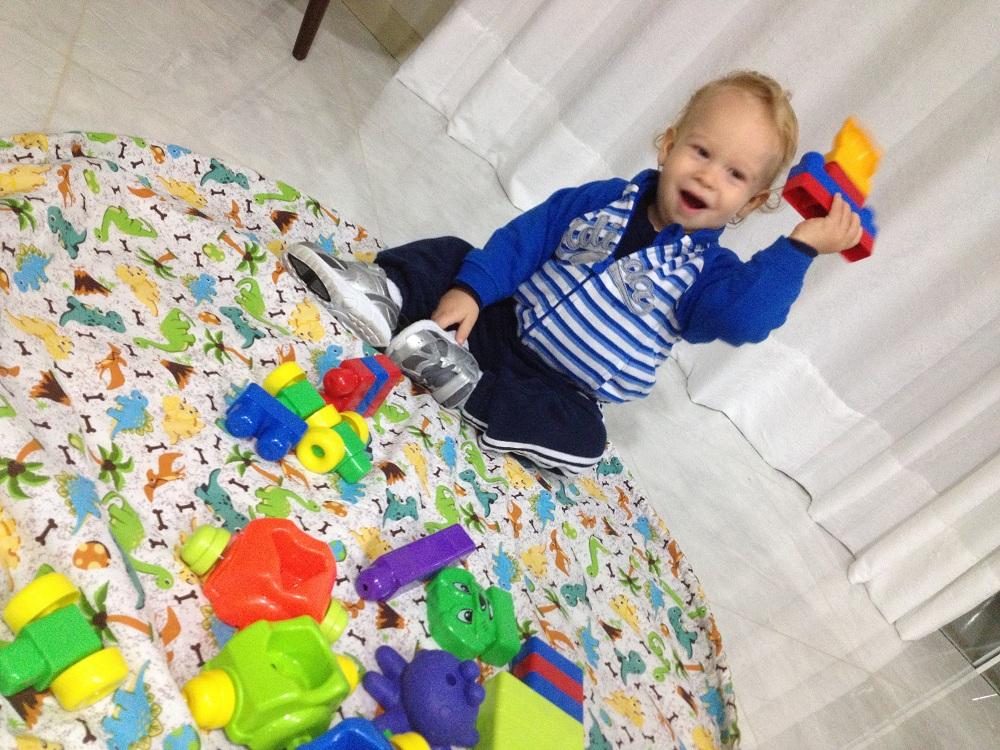 Passo a passo – Tapete para brincar