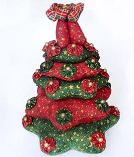 Passo a Passo – Árvore natalina de fuxico