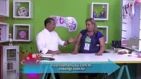 Rio Artes Manuais – Artes na TV (Passo a Passo – Guirlanda de Papai Noel)