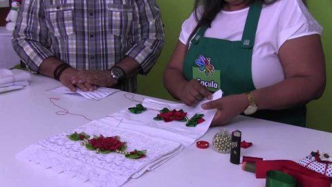 Rio Artes Manuais – Artes na TV (Passo a Passo – Toalinha Flor de Natal)